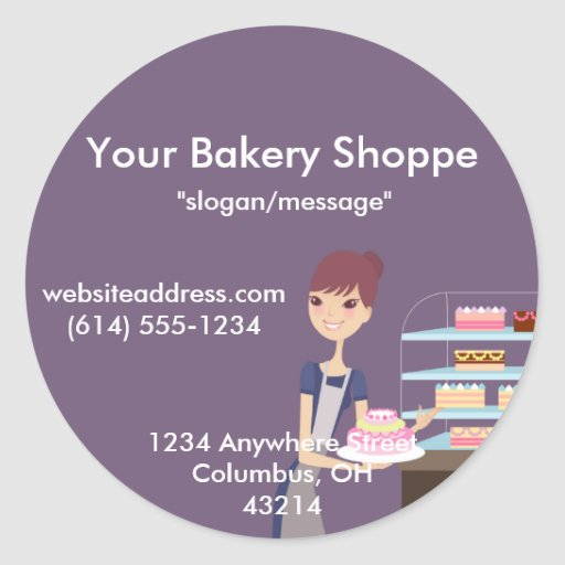 Bakery/Pastry Shop 4 Design Sticker