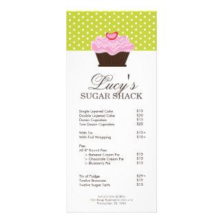 Bakery Price List Rack Card Design