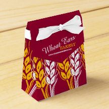 Bakery samples wheat red promotional gift box favor boxes