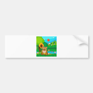 Bakery theme with children and cupcakes bumper sticker