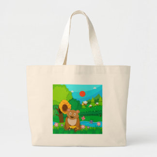 Bakery theme with children and cupcakes jumbo tote bag