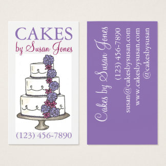 Bakery Wedding Cake Decorating Decorator Pastry Business Card