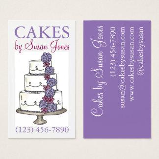 Bakery Wedding Cake Decorating Decorator Pastry Business Card