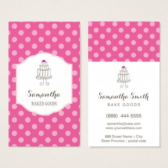 Bakery white dots Business Cards