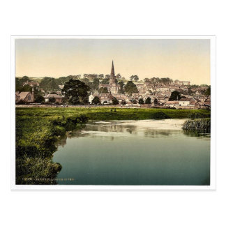 Bakewell, from river, Derbyshire, England rare Pho Postcard