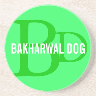 Bakharwal Dog Monogram Design Beverage Coasters