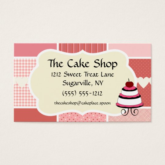 Baking and Bakery Boutique, Pink Polka Dot Heart