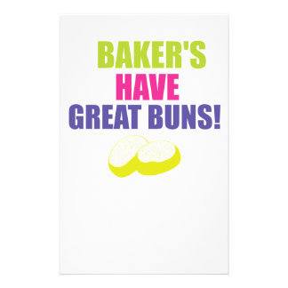 Baking - Bakers Have Good Buns Personalized Stationery