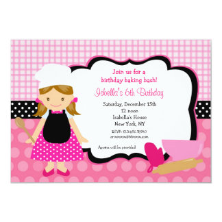 Baking Birthday Party Invitations