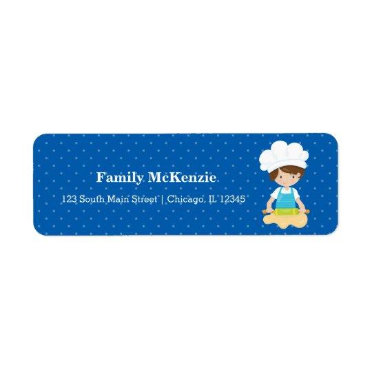 Baking * choose your background colour return address label