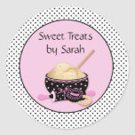Baking Cookies Polka Dots Classic Round Sticker