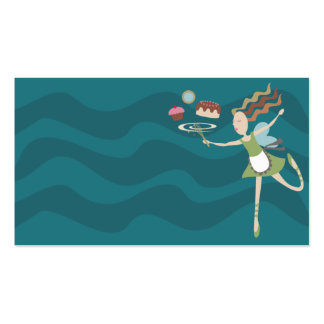 baking cooking fairy whisk dessert business card