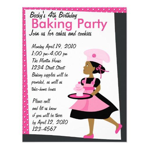 Baking Cutie Invitations
