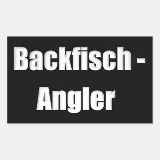 baking fish angler knows rectangular sticker