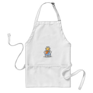 Baking Hippo eating dough - Personalize with name Standard Apron