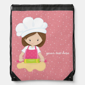 Baking is fun * choose your background color drawstring backpacks