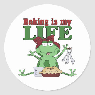 Baking Is My Life Classic Round Sticker