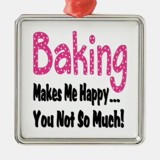 Baking Makes Me Happy Christmas Ornament
