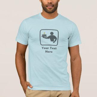 Baking Man with Cake (Grey Logo) -- Customizable T-Shirt