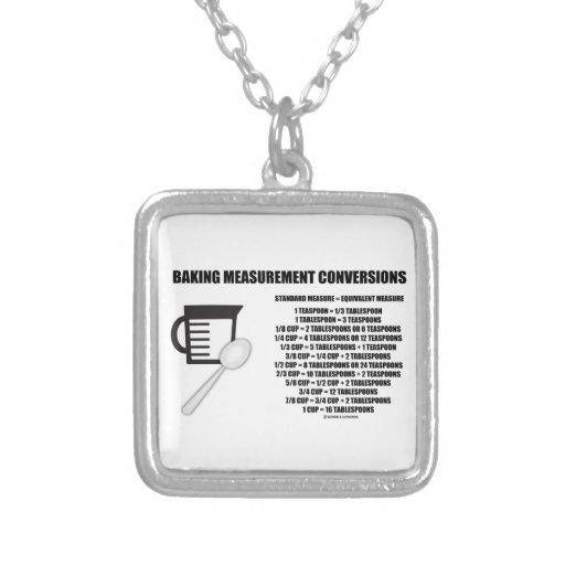 Baking Measurement Conversions (Measure) Custom Necklace