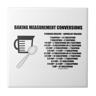 Baking Measurement Conversions (Measure) Small Square Tile