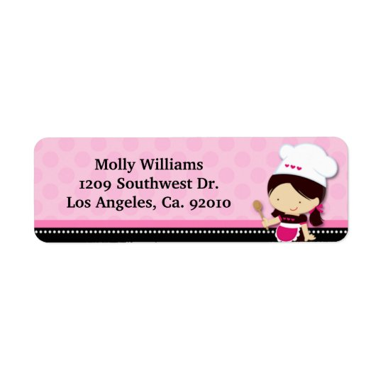 Baking Party Return Address Labels