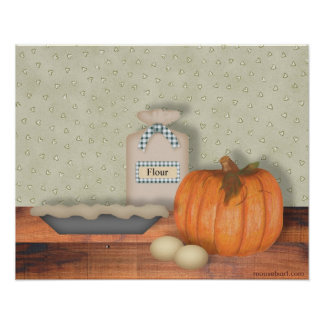 Baking Pumpkin Pie Print