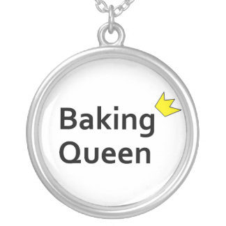 Baking Queen Round Pendant Necklace
