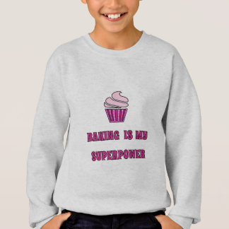 Baking superpower pink cupcake sweatshirt