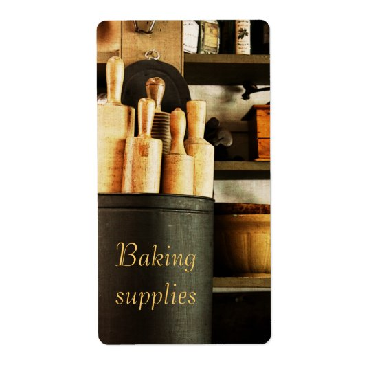 baking supplies customisable container label