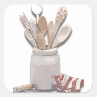 Baking Tools Square Sticker