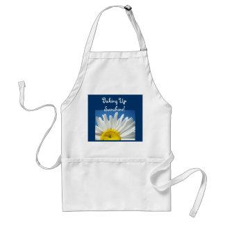 Baking Up Sunshine aprons Blue Sky Daisy Floral