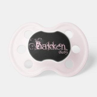 Bakken Baby Pacifier (Pink/Black)