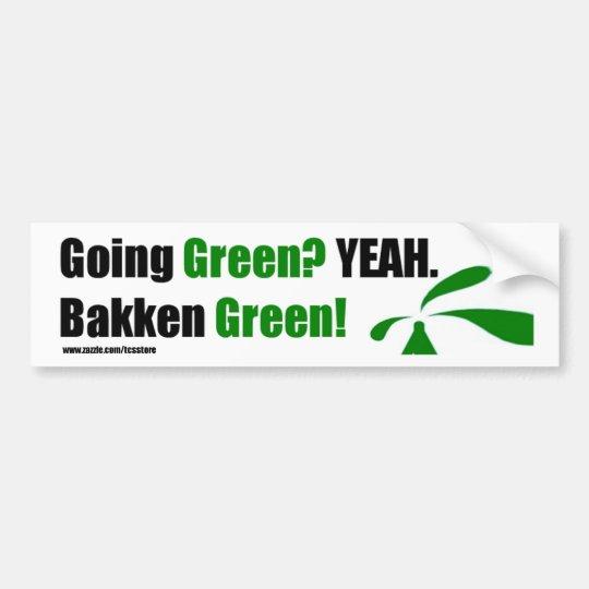 Bakken Green Bumper Sticker w/ website