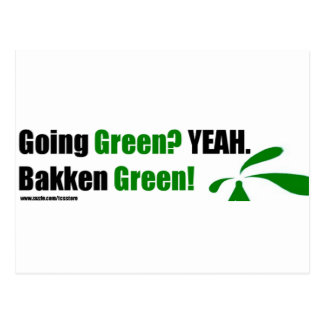 Bakken Green Envelope Postcard