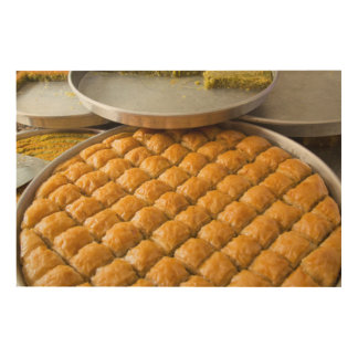 Baklava Dessert At Market Wood Print