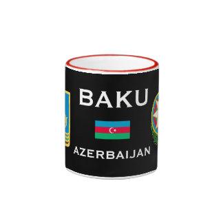 Baku* Azerbaijan Mug   Bakı Azərbaycan Fincan Ringer Mug