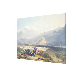 Bala Hissar and City of Kabul with the British Can Canvas Print