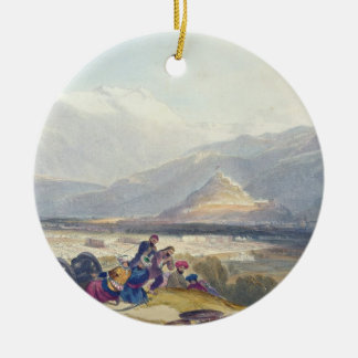 Bala Hissar and City of Kabul with the British Can Christmas Ornament