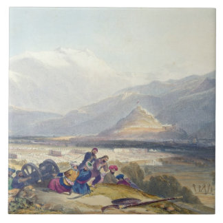 Bala Hissar and City of Kabul with the British Can Tile