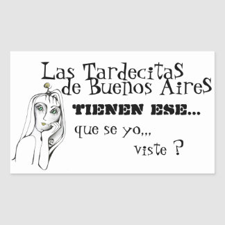 Balada para un Loco Buenos Aires Lyrics Rectangular Sticker