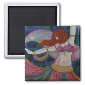 Baladi, Belly Dancer Beautiful Art Magnets
