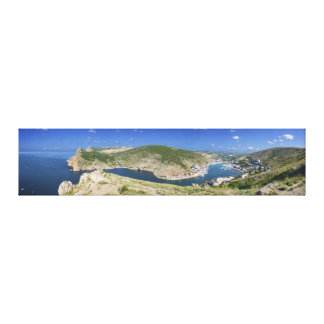 Balaklava Bay Crimea Ukraine Panorama Canvas Print