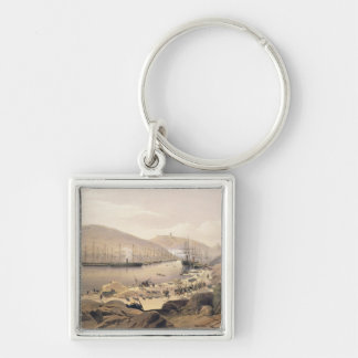 Balaklava, plate from 'The Seat of War in the East Silver-Colored Square Key Ring