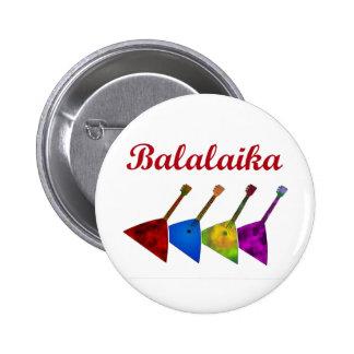 Balalaika 6 Cm Round Badge