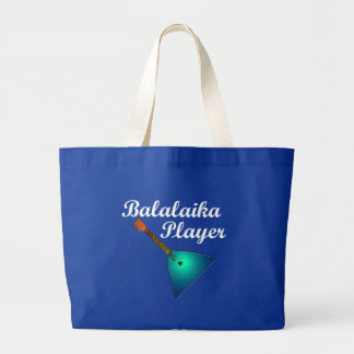 Balalaika Player Large Tote Bag