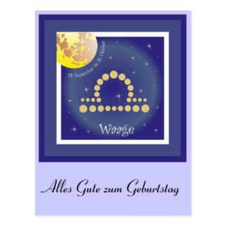 Balance 24 September until 23 October postcard