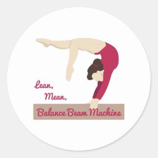Balance Beam Machine Classic Round Sticker