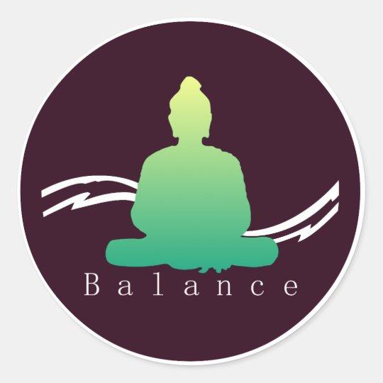 """""""Balance"""" Beautiful Buddha. Classic Round Sticker"""