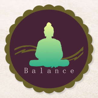 """Balance"" Beautiful Buddha. Paper Coaster"